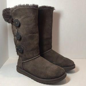 UGG Brown Women's Suede / Fur Boots